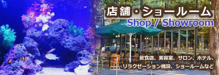 水槽設置事例 「店舗・ショールーム」編